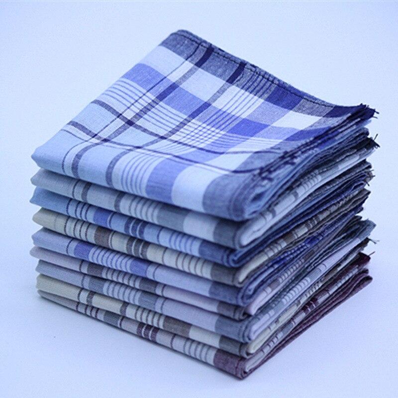Men's Cotton Plaid Handkerchiefs Set