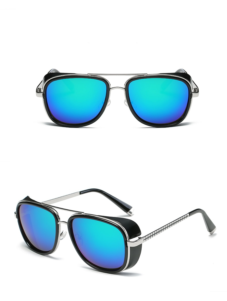 Men's Vintage Mirror Sunglasses