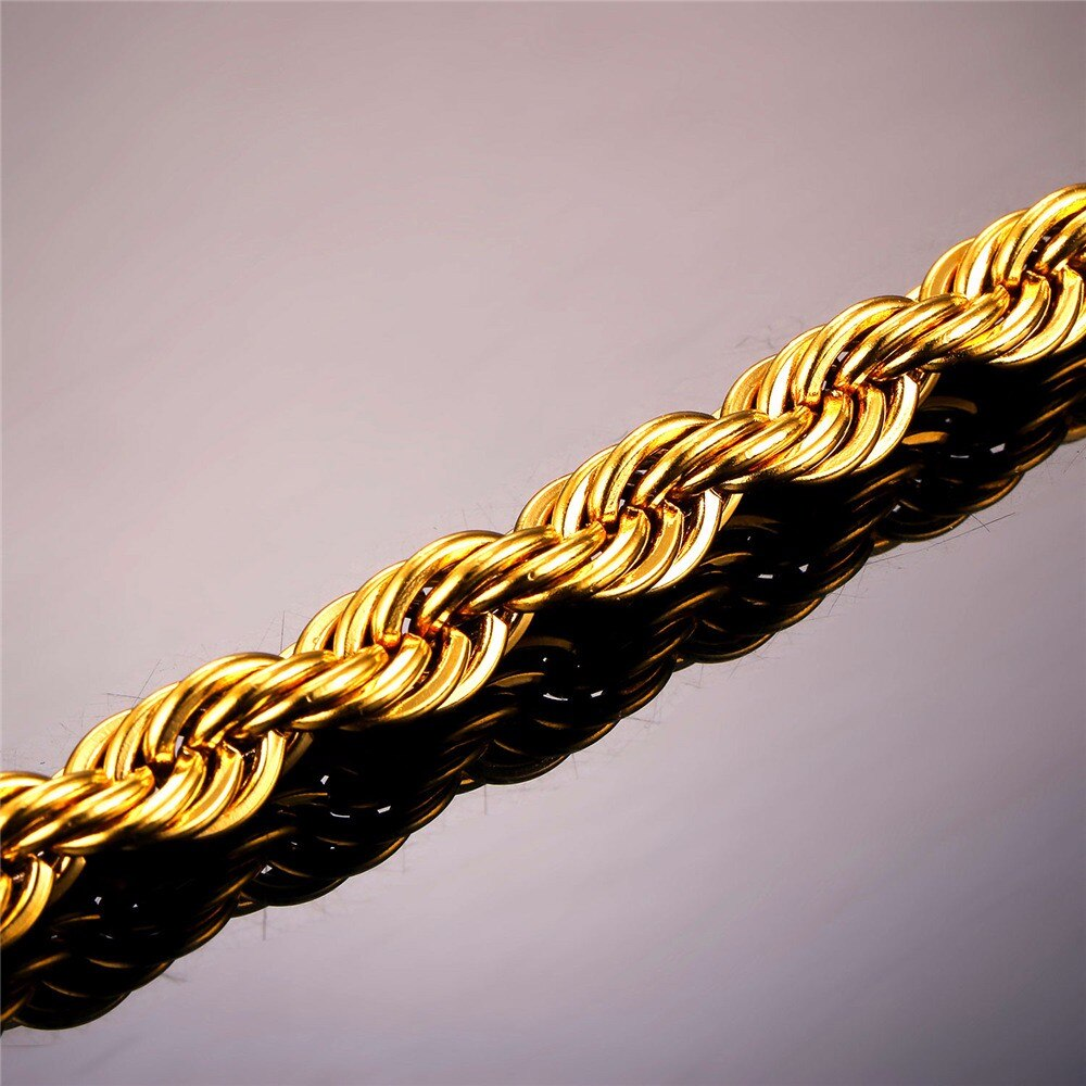 Thick Twisted Rope Braided Men's Chain