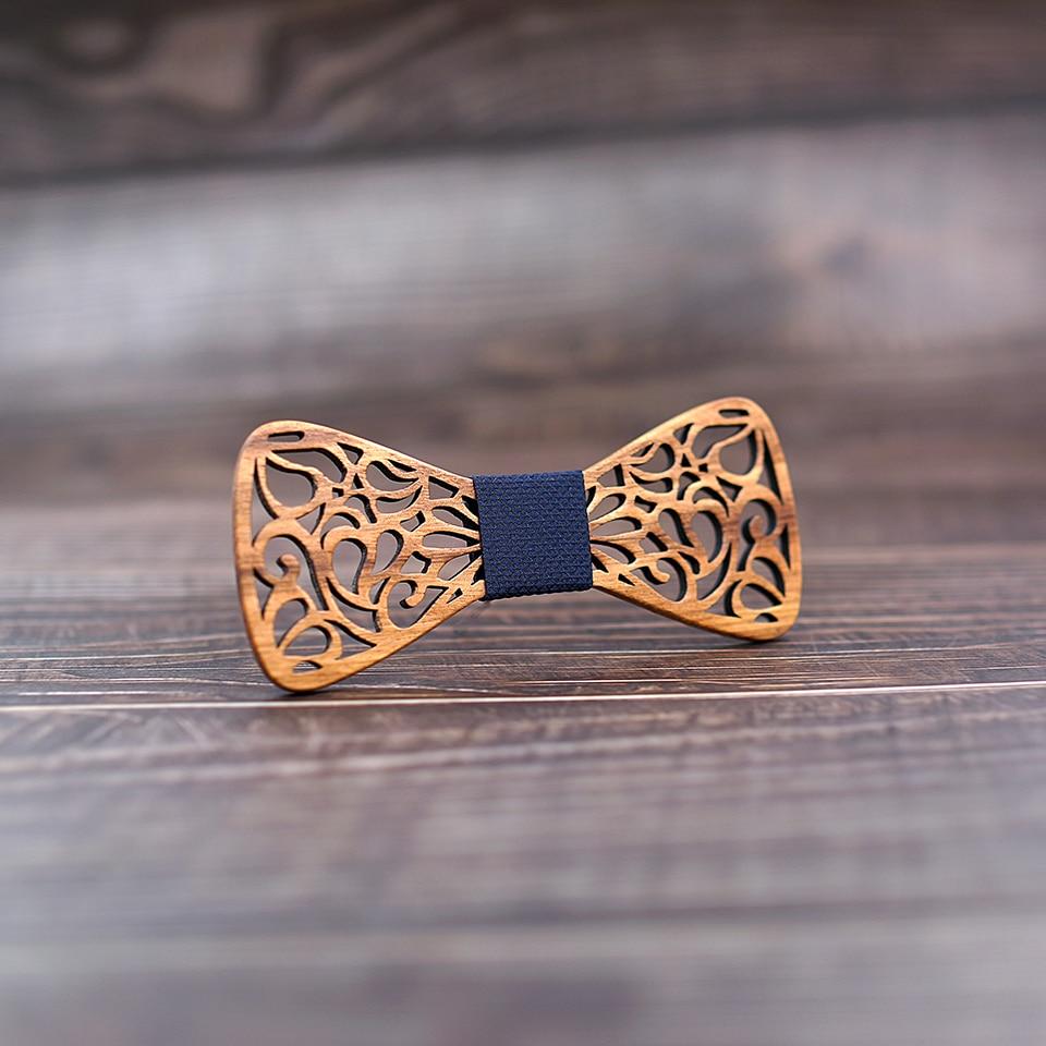 Men's Floral Wood Bow Tie
