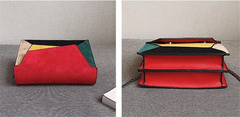 Women's Retro Patchwork Crossbody Bag