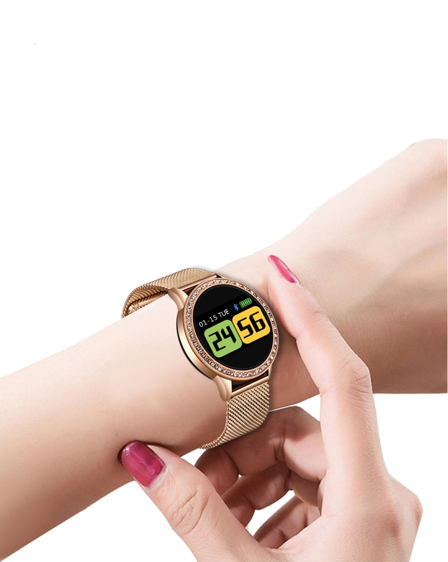 Women's Elegant Smart Watch Decorated with Stones