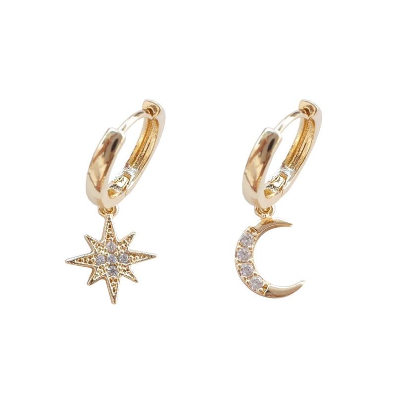 Women's Star/Moon Shaped Dangle Earrings